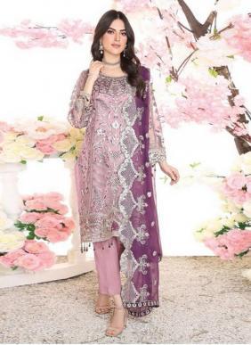Saniya Trendz Zebtan Faux Georgette Heavy Embroidery Work Pakstani Suits Collection