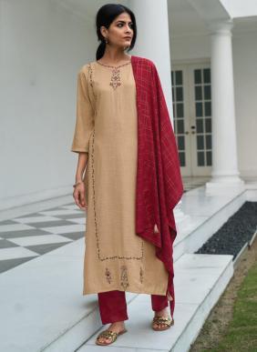 Kalki Fashion Sequins Cataloge Pure Live Cotton Silk Katha Work Readymade Salwar Suits Collection