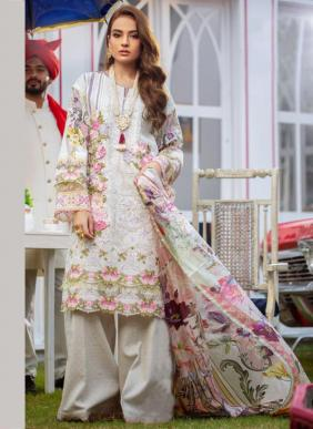 Kaara Firdous Lawn Vol 7 Embroidery Work Pure Cotton Pakistani Suits Collection