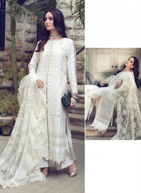 Saniya Trendz Rouch Chikankari Work Ramzan Eid Special Cambric Cotton Pakistani Suits Collection