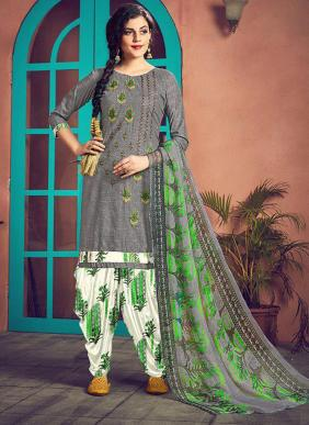 Roli Moli Mehreen Fancy Embroidery Work PC Cotton Patiyala Suits Collection