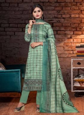 Bipson Lajoo 1245 New Fancy Printed Glace Cotton Straight Suits Collection