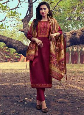 Triple AAA Mini Silk New Designer Embroidery Work Salwar Suits Collection