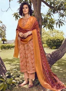 Kesari Trendz Brasso Dupatta Vol 2 Pure Cotton Satin Straight Suits Collection