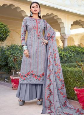 Aadesh NX Jamdani Pure Cambric Cotton Palazzo Suits Collection