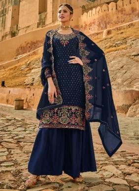 Sara Trendz Zara Ramzan Eid Special Faux Georgette Palazzo Suits Collection