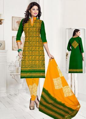 JS Priya Wax Batik Daily Wear Cotton Readymade Salwar Suits Collection