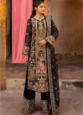Ramsha Georgette Net Ramzan Eid Special Pakistani Suits Collection