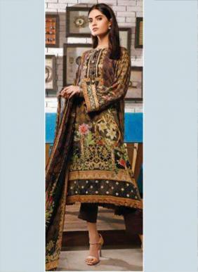 Rouche Malhar Digital Printed Cotton Satin Pakistani Suits Collection