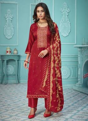 Four Dots Nyra Pure Modal Satin Straight Suits Collection