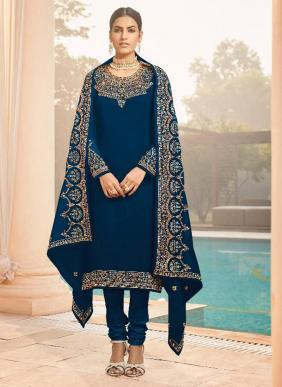 lt Zyrah Georgette Heavy Work Eid Special Churidar Suits Collection