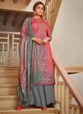 Hansa Surveen Digital Printed Jam Cotton Palazzo Suits Collection