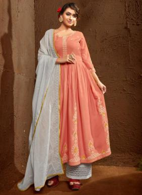 Maskeen Roja Lucknowi Work Eid Special Readymade Salwar Suits Collection