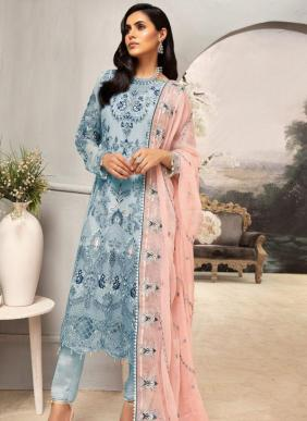 Rouche Emaan Deal Hand Work Heavy Georgette Pakistani Suits Collection