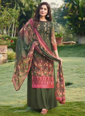 Hansa Bhavya Digital Printed Georgette Palazzo Suits Collection