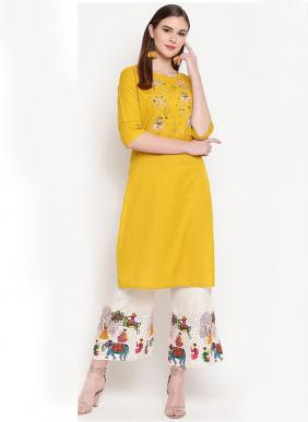 Mahal Floral Printed Kurtis With Pants Collection