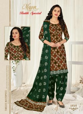 Mayur Batik Special Vol 15 Pure Cotton Patiyala Suits Collection