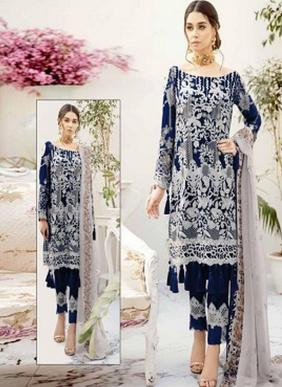 Charizma Ramsha Rangoon Georgette Pakistani Suits Collection