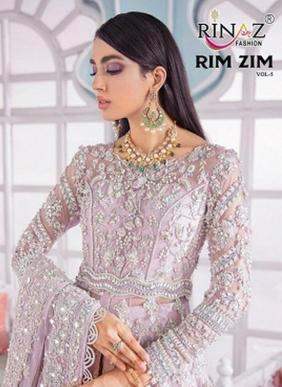 Rinaz Fashion Rim Zim Vol 5 Hand Work Net Pakistani Suits Collection