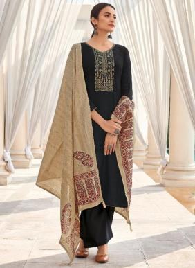 Shree Fab Monark Self Embroidery Work Cotton Salwar Suits Collection