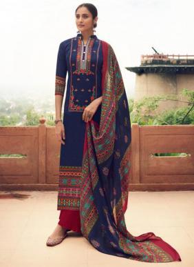Tanishk Fashion Kazo Kashmiri Embroidery Work New Designer Pure Jam Palazzo Suits Collection