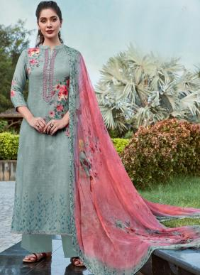 Relssa Shine Winter Special Pure Pashmina Embroidery Work Casual Wear Palazzo Suits Collection
