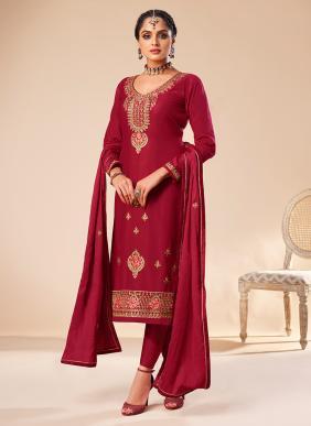 Gulkayra Designer Shehnaz Heavy Embroidery Work Jam Silk Party Wear New Designer Salwar Suits Collection