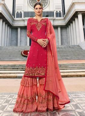 Fiona Noorie Vol 9 Latest Designer Heavy Embroidery Work Wedding Wear Three Layer Sharara Suits Collection