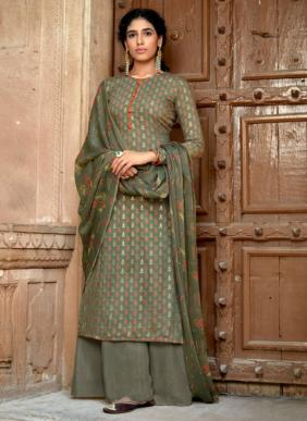 Sweety Fashion Kaveri Copper Printed New Fancy Regular Wear Palazzo Suits Collection