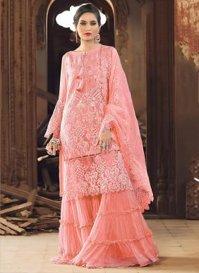 Shree Fab Rose Gold Net Heavy Embroidery Work Party Wear Pakistani Suits New Colors Collection