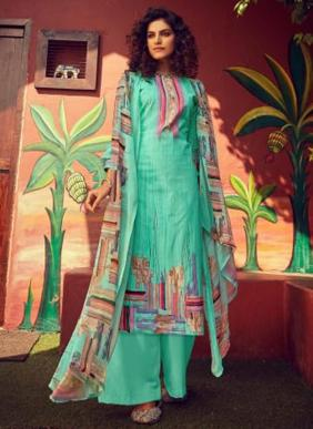 Zulfat Designer Digital Printed New Fancy Daily Wear Pure Cotton Palazzo Suits Collection