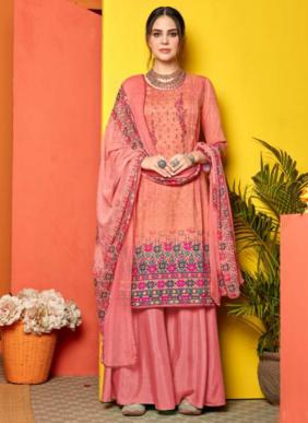 Sweety Fashion Falak Buy Now Casual Wear New Designer Thread Work Cotton Satin Palazzo Suits Collection