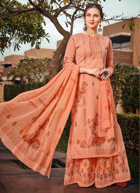 Taslim Leela Real Georgette Printed Latest Designer Casual Wear Palazzo Suits Collection