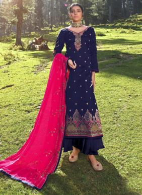 Alisa Mahera Jacquard Silk Latest Designer Festival Wear Palazzo Suits Collection