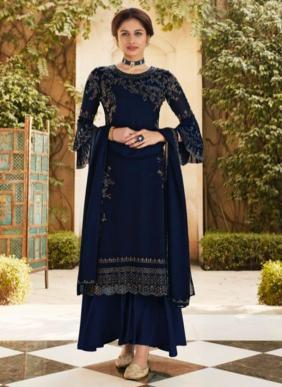 Fiona Fantasy Swarovski Work Party Wear Heavy Georgette Palazzo Suits Collection