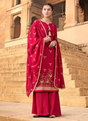 Glossy Fashion Gulaal Pure Chinnon Festival Special New Designer Palazzo Suits Collection