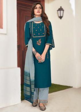 Seven Threads Zuri Elegent Viscose Embroidery Work New Designer Readymade Salwar Suits Collection