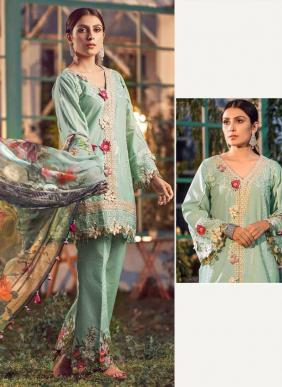 Saniya Trendz Elaf Vol 3 Cambric Cotton New Designer Embroidery Work Pakistani Suits Collection