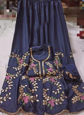 Gota Patti Work Latest Fancy Festival Wear Rayon Semi Stitched Salwar Suits Collection
