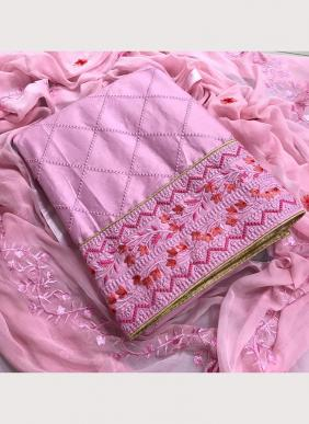 Embroidery Work New Designer PC Cotton Regular Wear Salwar Suits Collection