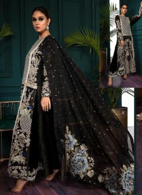 Shenyl Fab Shenyl Hits Vol 2 Heavy Embroidery Work Wedding Wear Faux Georgette Pakistani Suits Collection