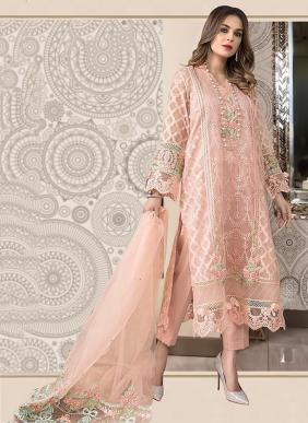 Party Wear Latest Designer Heavy Embroidery Work Organza Pakistani Suits Collection