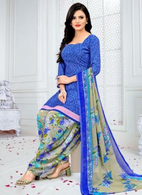 Vishnu Print Royal Patiyala New Fancy Cheapest Prices Printed Crepe Patiyala Suits Dress Material Collection