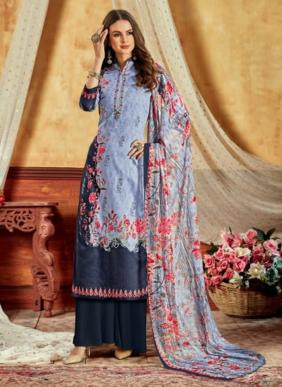 Levisha Kohinoor Vol 2 Digital Style Printed Cotton Satin Regular Wear Regular Wear Palazzo Suits Collection