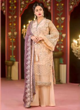 Cosmos Fashion Aayra Vol 14 Eid Special Heavy Pearl Embroidery Work Faux Georgette Pakistani Suits Collection