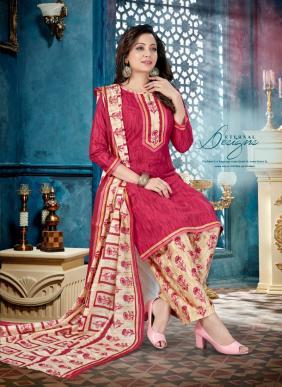 Alishka Fashion Kia Printed Cotton New Fancy Regular Wear Readymade Patiyala Suits Collection