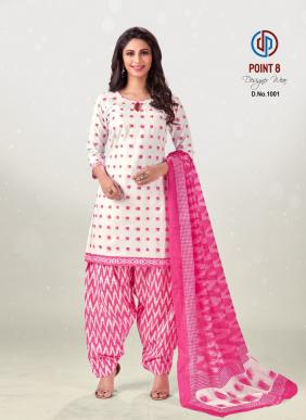 Deeptex Point Vol 8 Pure Cotton Readymade Patiyala Suits Collection
