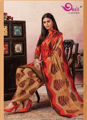 Devi Khushi Printed Cotton Readymade Patiyala Suits Collection
