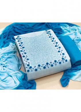 Hand Work Semi Modal New Designer Salwar Suits Dress Material Collection
