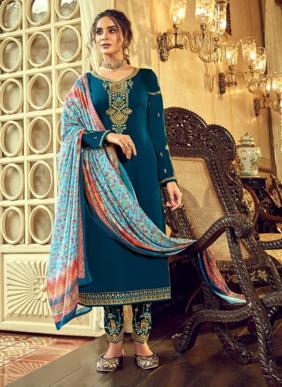 Alisa Designer Sahir Georgette Satin New Designer Eid Special Salwar Suits Collection